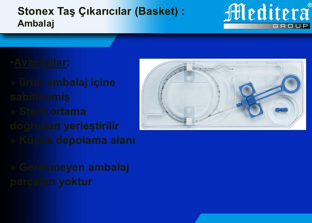 •Avantajlar: » ürün ambalaj içine sabitlenmiş » Steril ortama doğrudan yerleştirilir » Küçük depolama alanı » Gerekmeyen ambalaj parçaları yoktur Ston