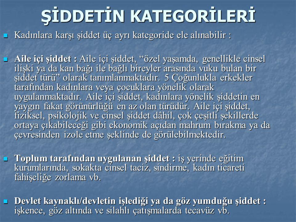 TÜRKİYE'DE KADINA YÖNELİK ŞİDDET  KSGM tarafından bu eylem planı çerçevesinde 2008 yılında yaptırılan Türkiye'de Kadına Yönelik Aile İçi Şiddet Araştırması ülke genelinde aile içi şiddetin ne kadar yaygın olduğunu bir kez daha gözler önüne sermektedir.