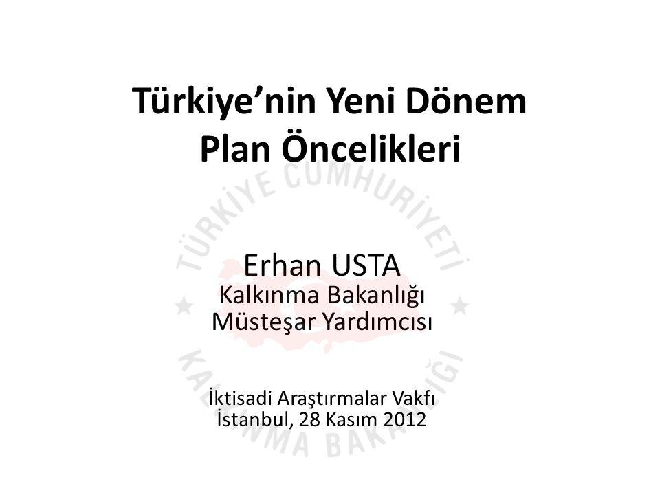 Bitirirken…  Türkiye'nin yeni dönem plan öncelikleri konusunda yapılan bu sunumun yalnızca makroekonomik alanlar ve onu etkileyen sosyal unsurlarla sınırlı olduğu belirtilmelidir.