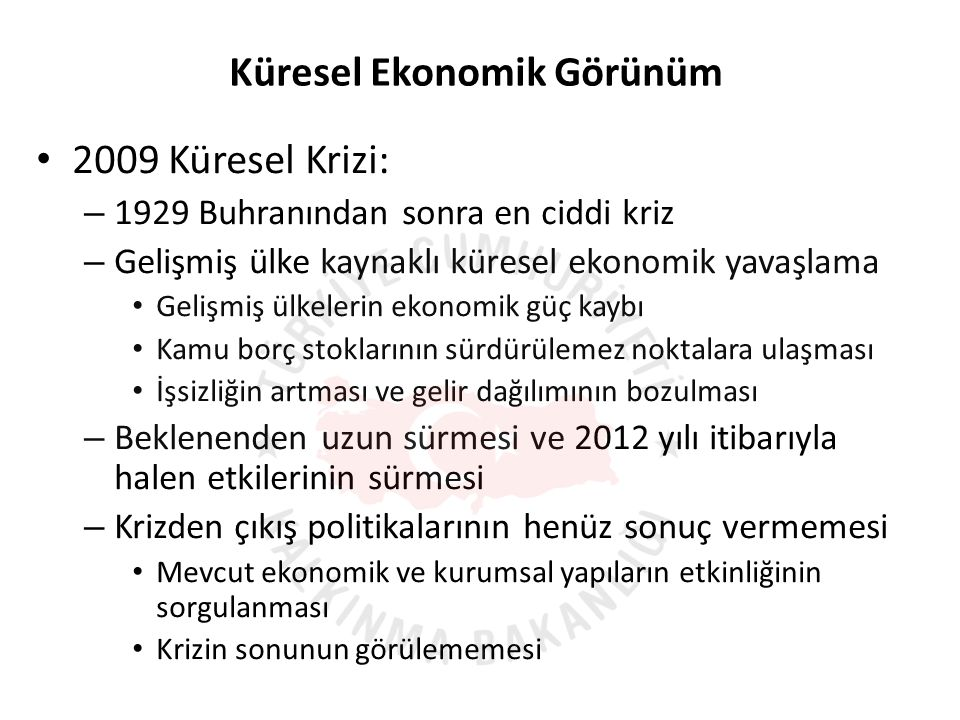 OECD (2012); Structural reforms to boost Turkey's long-term growth Kayıtdışılığın Azaltılmasının Yaratacağı Potansiyel Kazanım