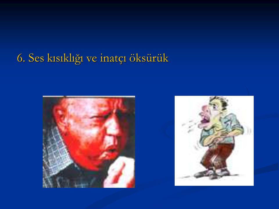 5. Yutma güçlüğü, İdrar ve dışkılama alışkanlıklarında değişme
