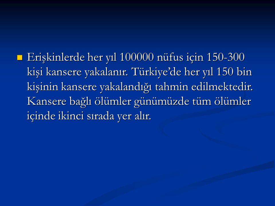 KANSER TEDAVİSİ 1.C errahi 2. R adyoterapi 3. K emoterapi 4.