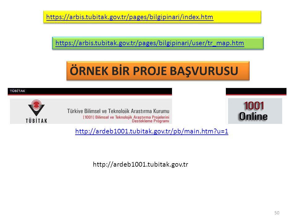 https://arbis.tubitak.gov.tr/pages/bilgipinari/user/tr_map.htm https://arbis.tubitak.gov.tr/pages/bilgipinari/index.htm ÖRNEK BİR PROJE BAŞVURUSU http