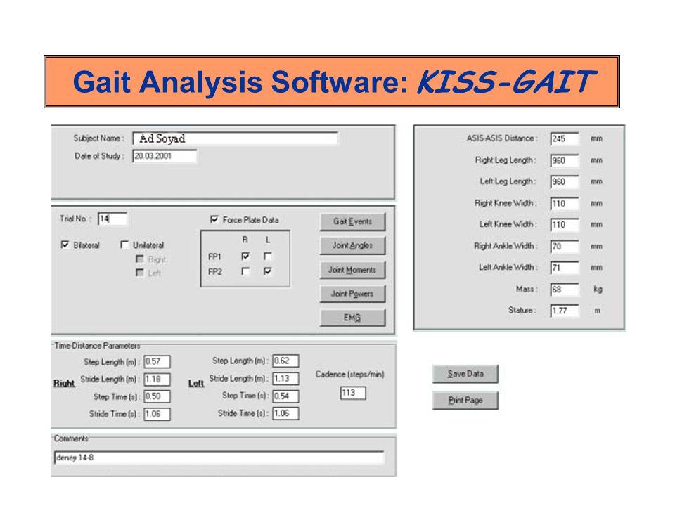 Gait Analysis Software: KISS-GAIT