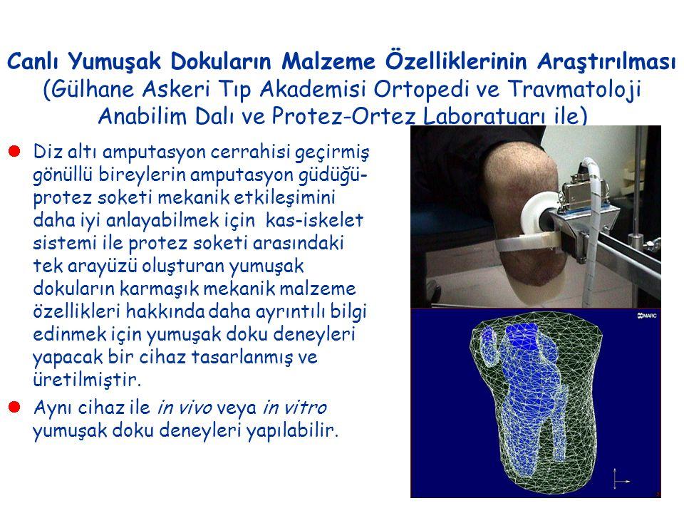 Canlı Yumuşak Dokuların Malzeme Özelliklerinin Araştırılması (Gülhane Askeri Tıp Akademisi Ortopedi ve Travmatoloji Anabilim Dalı ve Protez-Ortez Labo
