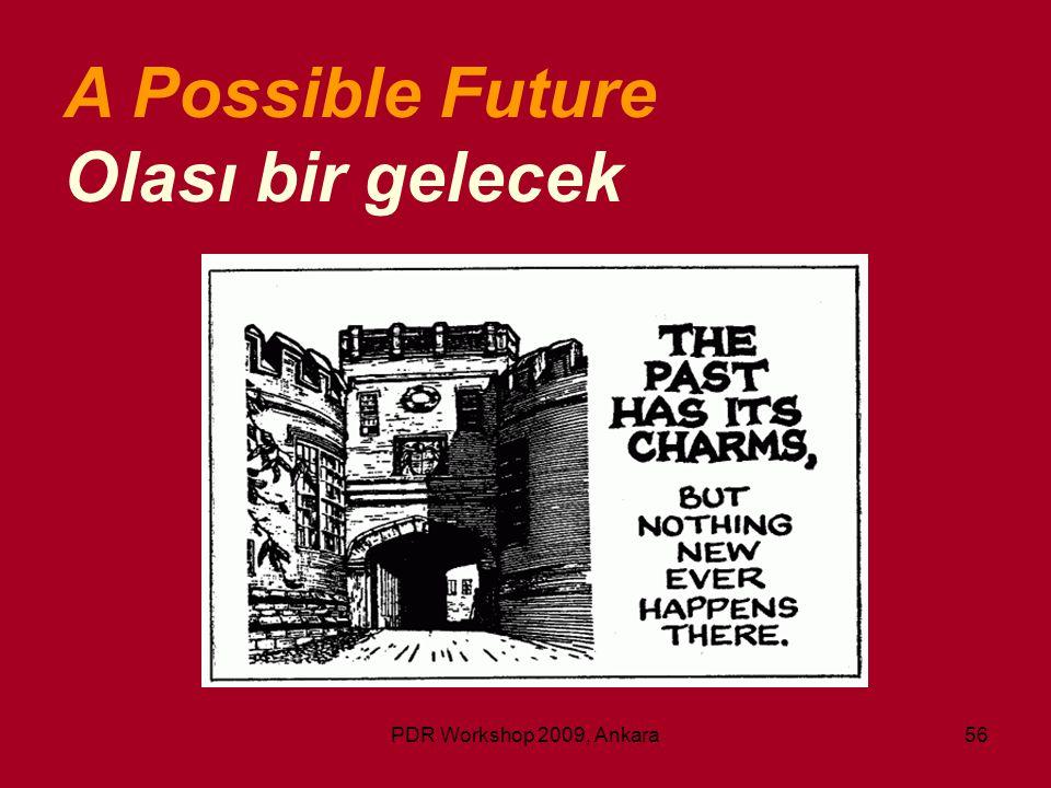 PDR Workshop 2009, Ankara56 A Possible Future Olası bir gelecek