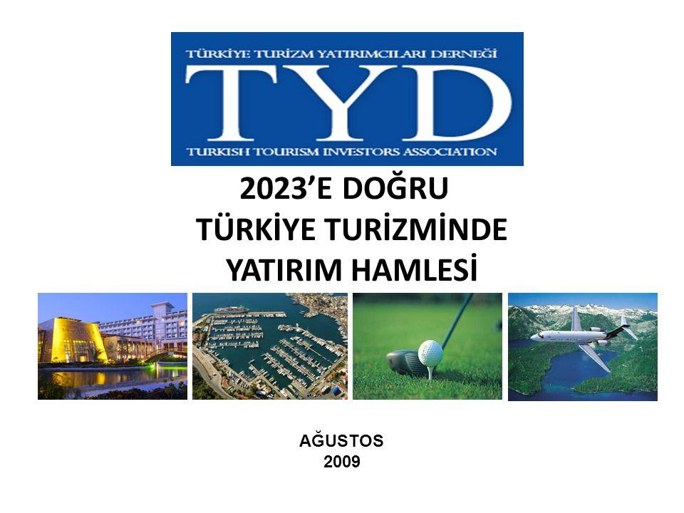 2023'E DOĞRU TÜRKİYE TURİZMİNDE YATIRIM HAMLESİ AĞUSTOS 2009