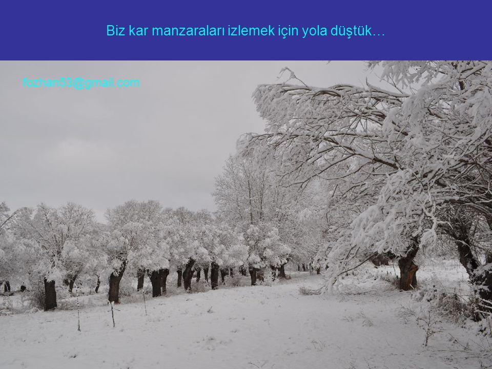 Biz kar manzaraları izlemek için yola düştük… fozhan53@gmail.com