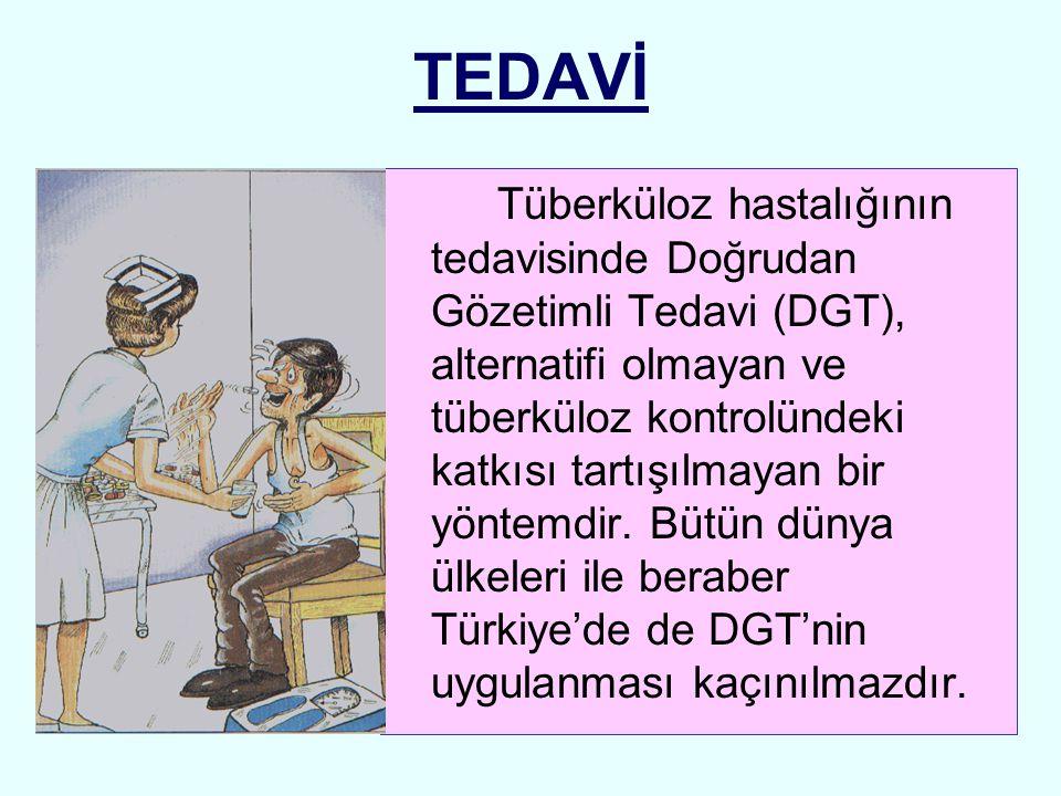 TEDAVİ Tüberküloz hastalığının tedavisinde Doğrudan Gözetimli Tedavi (DGT), alternatifi olmayan ve tüberküloz kontrolündeki katkısı tartışılmayan bir
