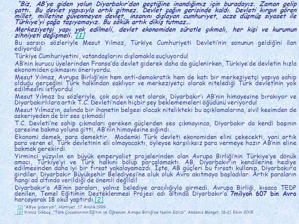 Avrupa Komisyonu Türkiye Temsilciliği AB Mali İşbirliği: İkili Projeler Büyük Ölçekli Projeler (1995–1999) Proje: Tarsus Atık Su İşletmesi Açıklama: AB Katkısı: 9.550.000 Euro.