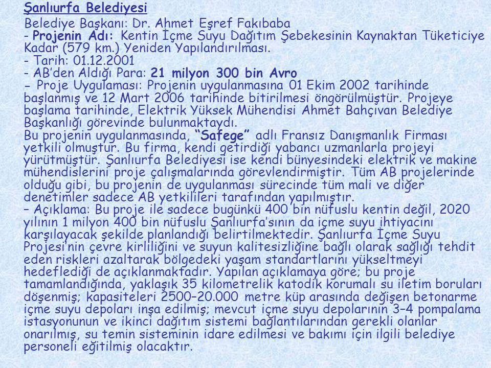 İzmir Konak Belediyesi Belediye Başkanı: Ali Muzaffer Tunçağ - Projenin Adı: Bir Mesleki Eğitim Merkezi Kurarak, Temel Bilgisayar ve Bilgisayarla Muhasebe Eğitimi Vermek.