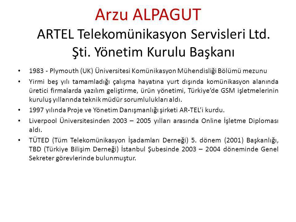 Arzu ALPAGUT ARTEL Telekomünikasyon Servisleri Ltd.
