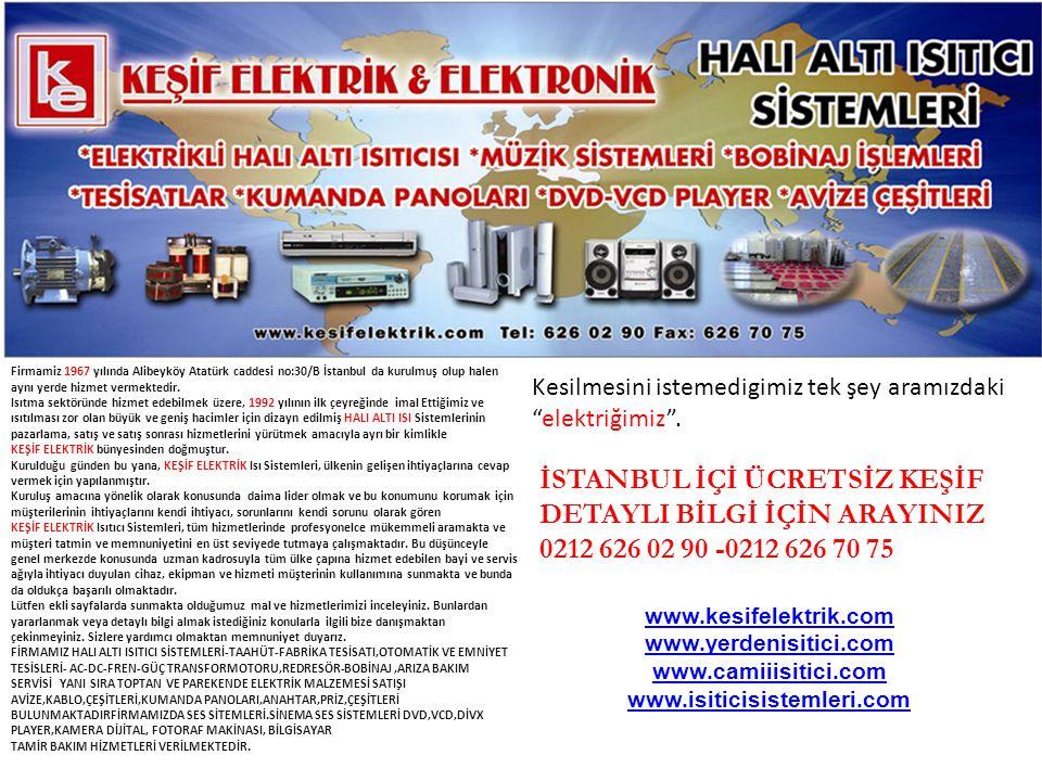 Firmamiz 1967 yılında Alibeyköy Atatürk caddesi no:30/B İstanbul da kurulmuş olup halen aynı yerde hizmet vermektedir.