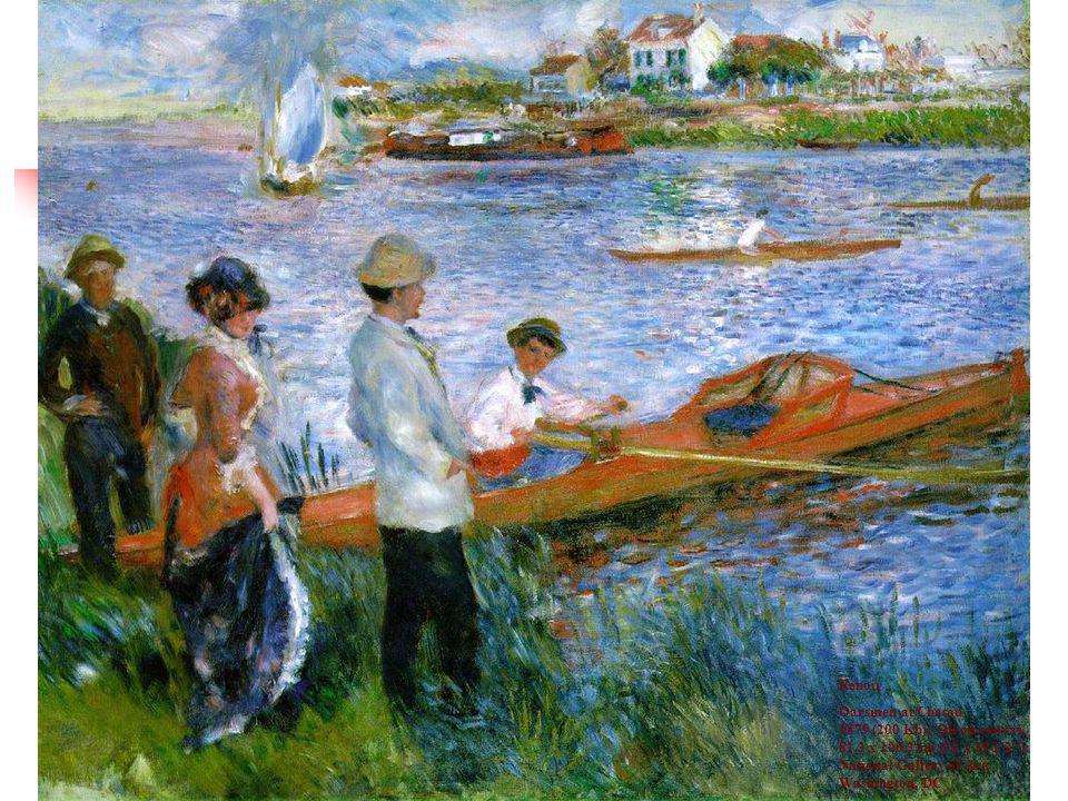 Renoir Oarsmen at Chatou 1879 (200 Kb); Oil on canvas, 81.3 x 100.3 cm (32 x 39 1/2 ); National Gallery of Art, Washington, DC
