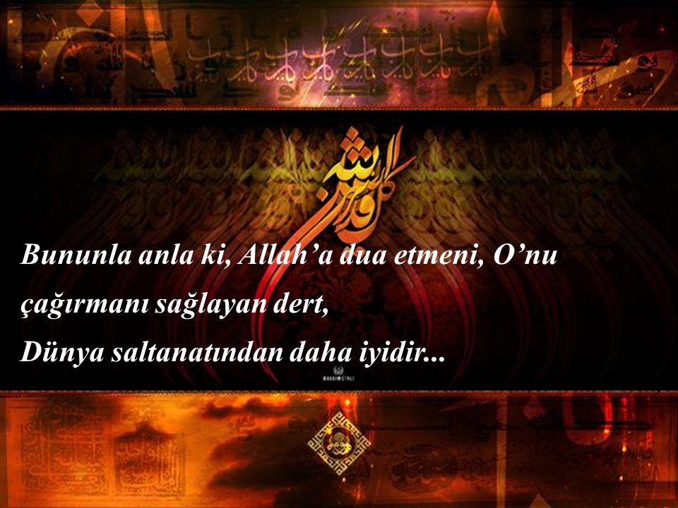 Çünkü Yarabbî demeye izin yok ona... Ağzında da kilit var, dilinde de... Zarara uğradığı zaman, ağlayıp, sızlamasın diye Allah ona dert, ağrı, sızı, g