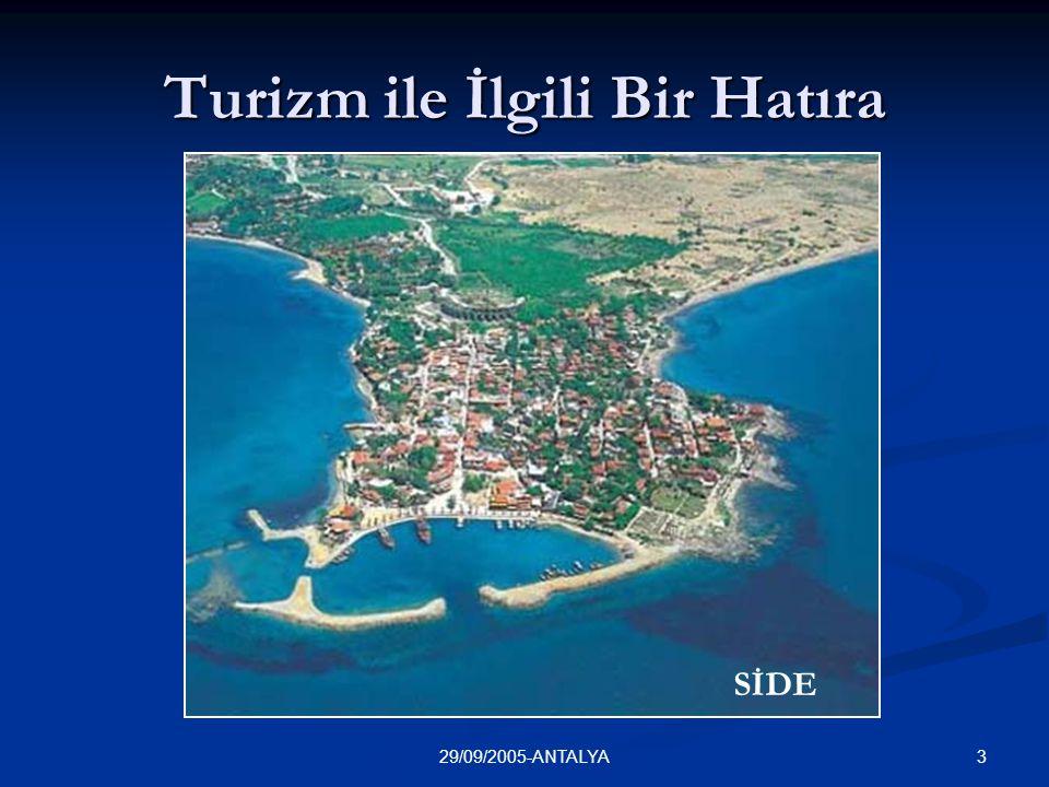 329/09/2005-ANTALYA Turizm ile İlgili Bir Hatıra SİDE