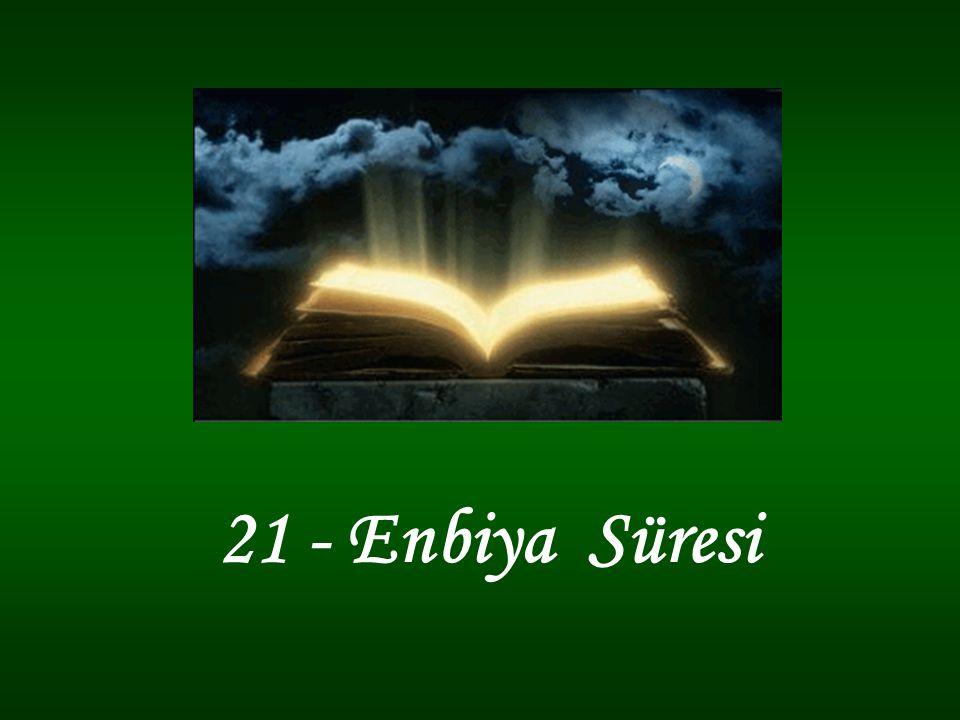 73 - Onları buyruğumuz altında (insanlara) doğru yolu gösterecek önderler kıldık. …