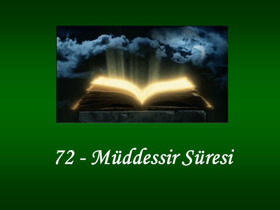 72 - Müddessir Süresi