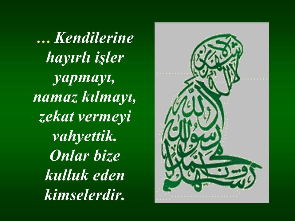 … Namazı kılın, zekatı verin. Allah a ve Resülüne itaat edin…
