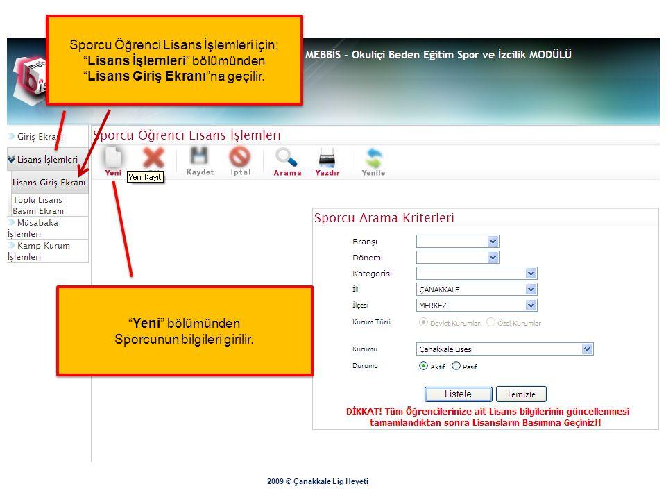 """2009 © Çanakkale Lig Heyeti Gelen ekrandan """"Yazdır"""" butonundan döküm alınır. Çıktıyı okul müdürlüğünden onaylatarak İl Milli Eğitim Müdürlüğüne yollay"""