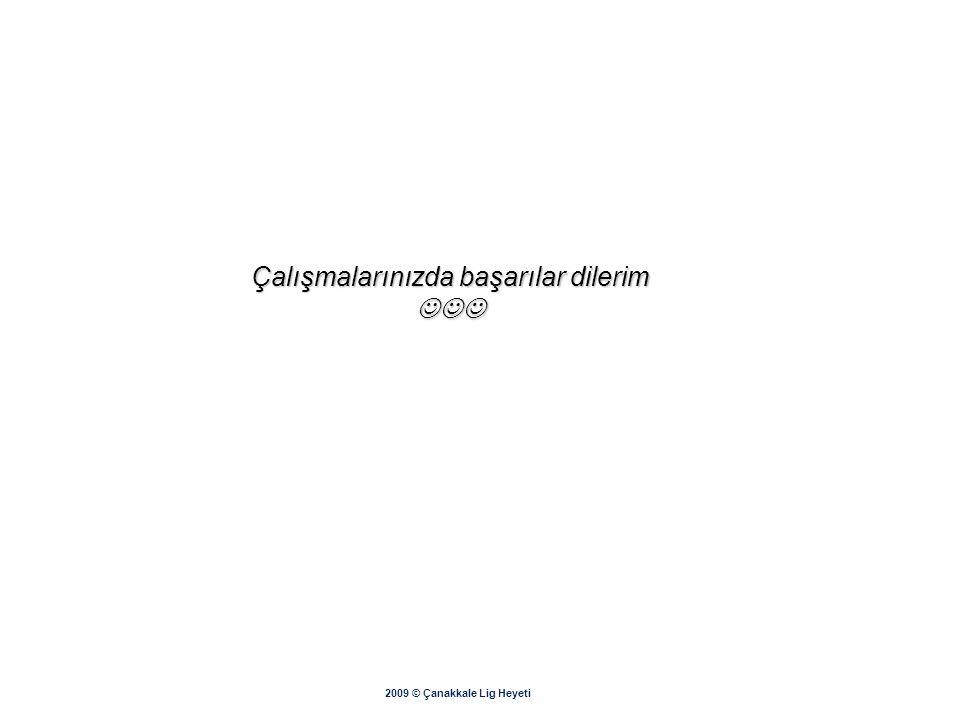 """2009 © Çanakkale Lig Heyeti Döküm için """"Yazdır"""" butonu tıklanır. Alınan çıktı imzalanıp onaylandıktan sonra müsabaka öncesi ilgili branşın LİG HEYETİ"""