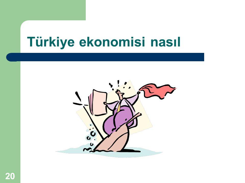 20 Türkiye ekonomisi nasıl