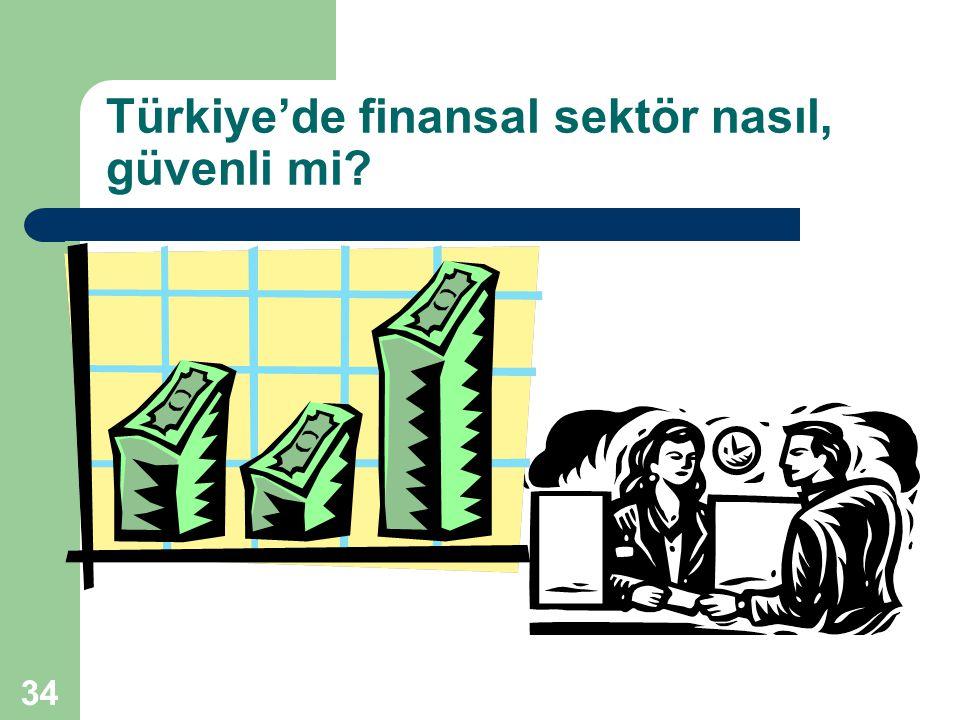 34 Türkiye'de finansal sektör nasıl, güvenli mi?