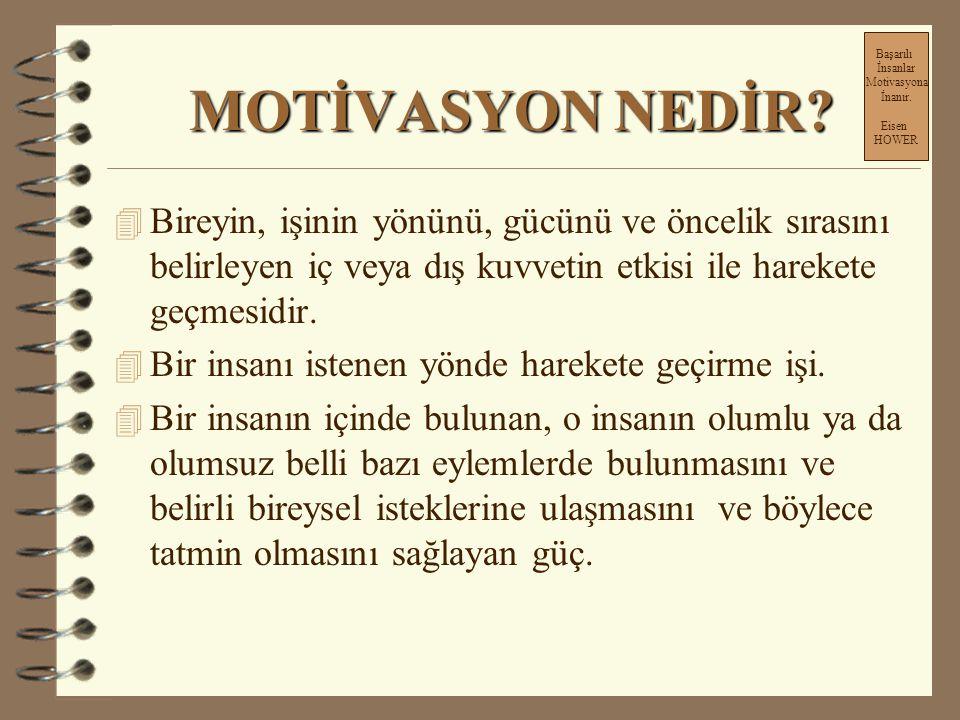 Başarılı İnsanlar Motivasyona İnanır. Eisen HOWER