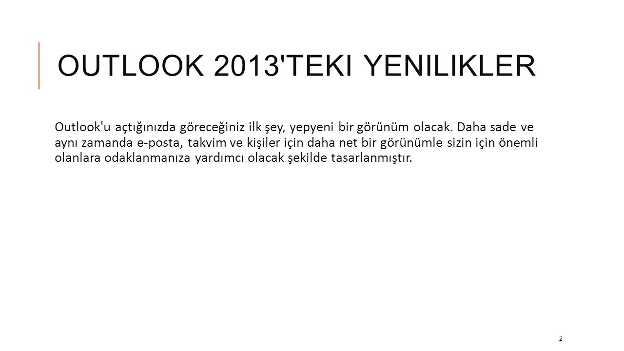 MS OFFICE OUTLOOK 2013