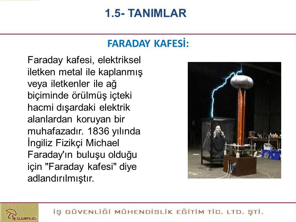 FARADAY KAFESİ: Faraday kafesi, elektriksel iletken metal ile kaplanmış veya iletkenler ile ağ biçiminde örülmüş içteki hacmi dışardaki elektrik alanl