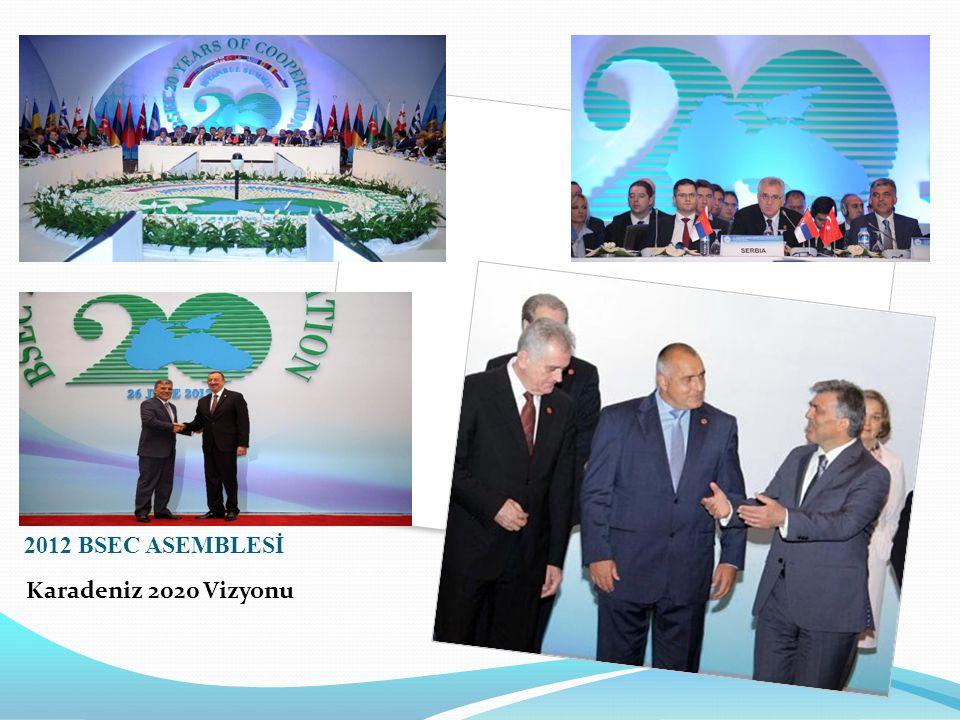 2012 BSEC ASEMBLESİ Karadeniz 2020 Vizyonu