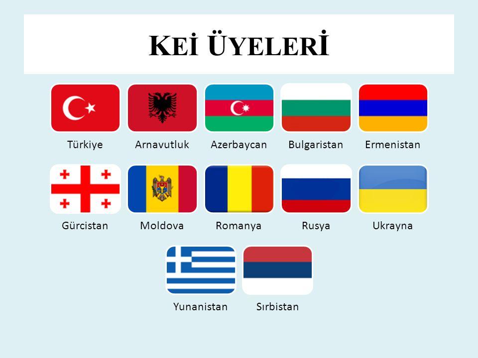 K Eİ Ü YELER İ TürkiyeArnavutlukAzerbaycanBulgaristanErmenistan GürcistanMoldovaRomanyaRusyaUkrayna YunanistanSırbistan