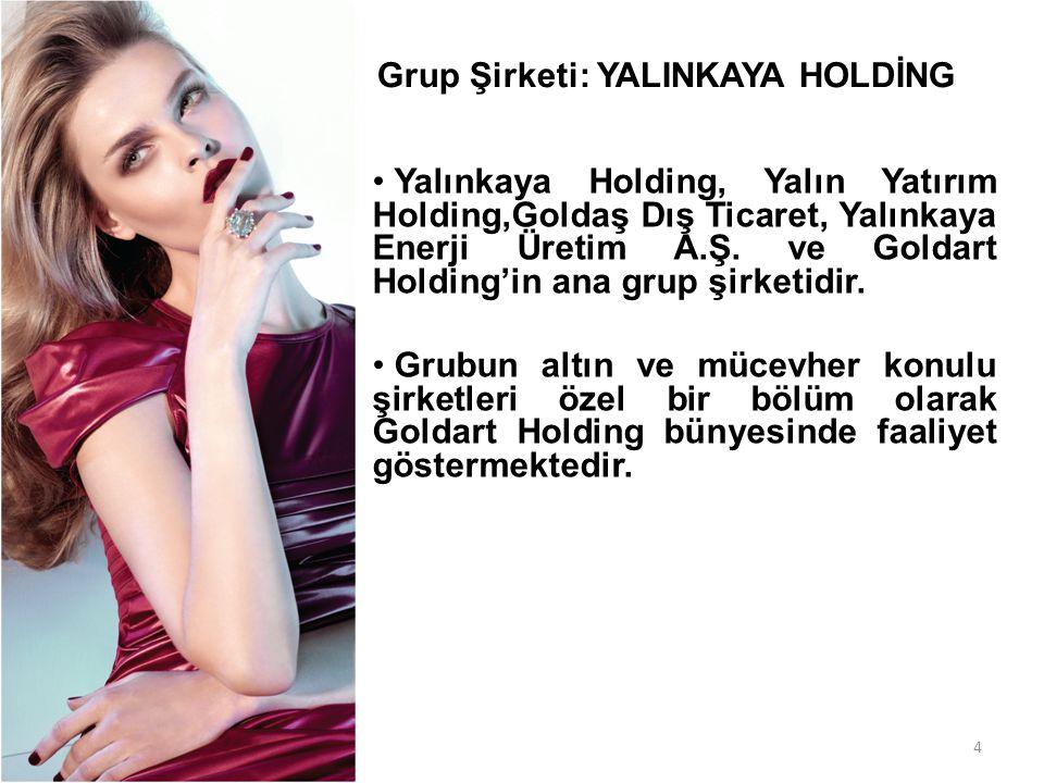 4 • Yalınkaya Holding, Yalın Yatırım Holding,Goldaş Dış Ticaret, Yalınkaya Enerji Üretim A.Ş. ve Goldart Holding'in ana grup şirketidir. • Grubun altı