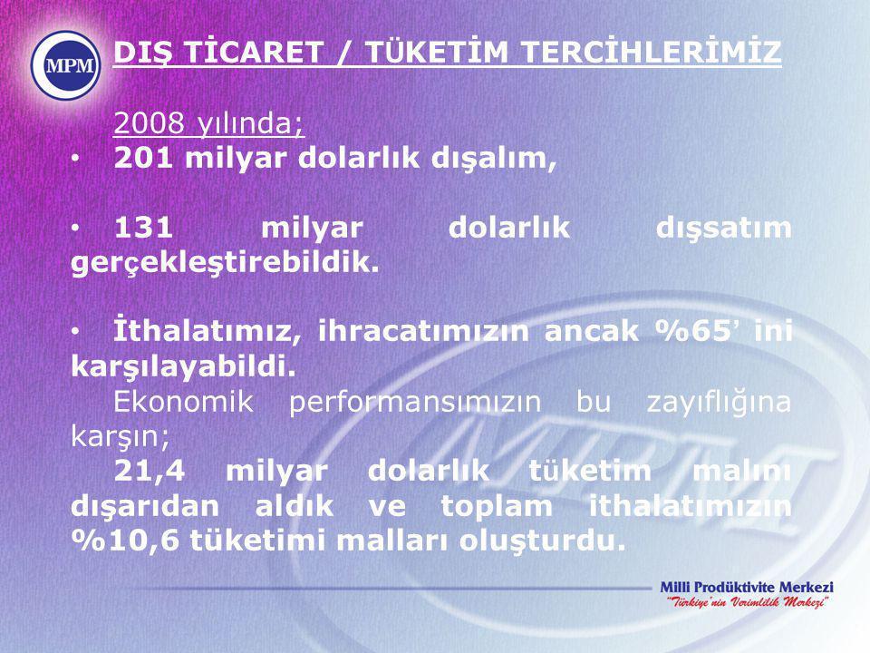 Diğer Yandan, çeşitli dış ticaret anlaşmalarıyla bağıtlı bulunan idarenin durumu da göz önüne alındığında, Konunun üretim ve tüketimin bir araya geleceği oluşumlarda; Verimlilikle; kaliteli, ucuz ve tüketici haklarını öngören, 'Türk Malı' imajını da bunların güvencesi haline getiren güçlü bir ulusal sivil organizasyon çerçevesinde ele alınmasını gerekli kılmaktadır.