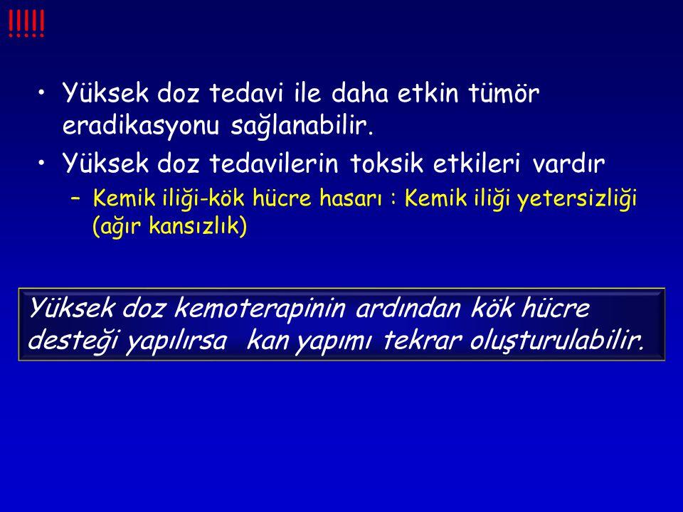 •Yüksek doz tedavi ile daha etkin tümör eradikasyonu sağlanabilir.