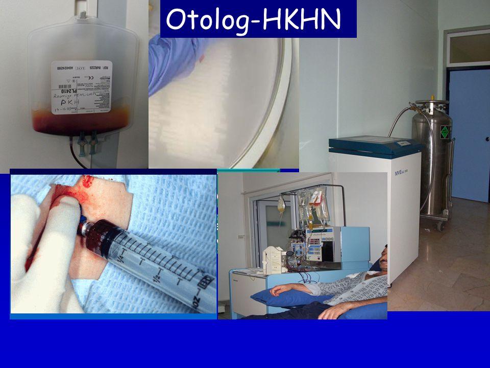 Lenfoma Yanıt Nüks İlk Tedavi Kök hücreler toplanır, saklanır Yüksek doz kemo/radyoterapi Tm eradikasyonu Miyeloablasyon Kök hücreler hastaya geri verilir Hematopoetik toparlanma (kan yapımı) Nüks için kurtarma tedavisi Otolog-HKHN