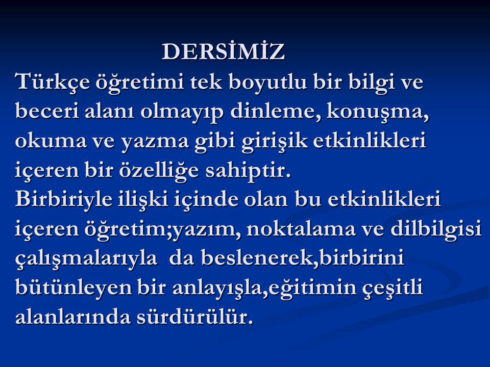 AMACIMIZ   Eğitimde Kalite Hareketi adı altında Türkçe Grubu olarak amacımız SBS' deki Türkçe başarısını arttırmaktır.