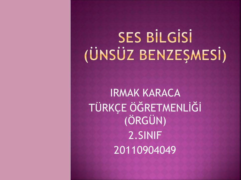 IRMAK KARACA TÜRKÇE ÖĞRETMENLİĞİ (ÖRGÜN) 2.SINIF 20110904049