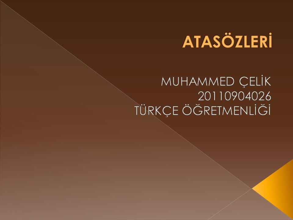 11  Türk atasözlerinde divanlar, mesneviler ile nasihat eserlerinde çok rastlanır.
