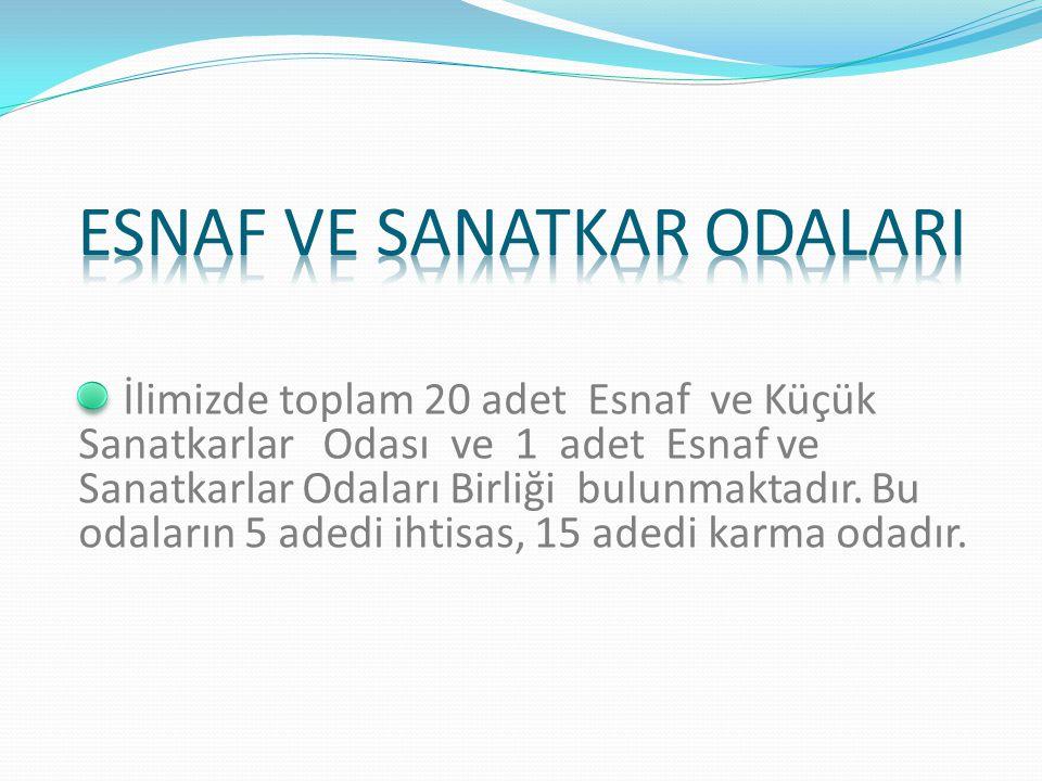 İlimizde Van ve Erciş'te olmak üzere toplam 2 adet Ticaret ve Sanayi Odası bulunmaktadır. 1) Van Ticaret ve Sanayi Odası Üye Sayısı: 7426 Adet 2) Erci