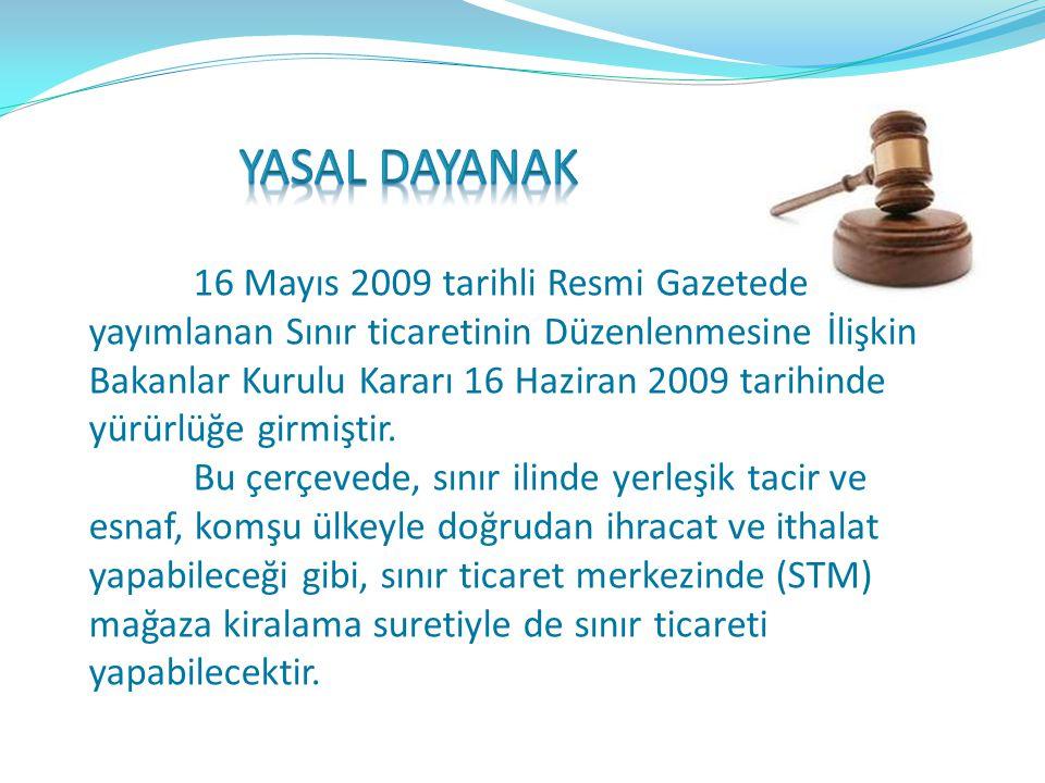 Doğu ve Güneydoğu Anadolu Bölgesi sınır illerine yönelik sınır ticareti uygulaması ile yöre halkının günlük temel ihtiyacının bir kısmının komşu ülkel