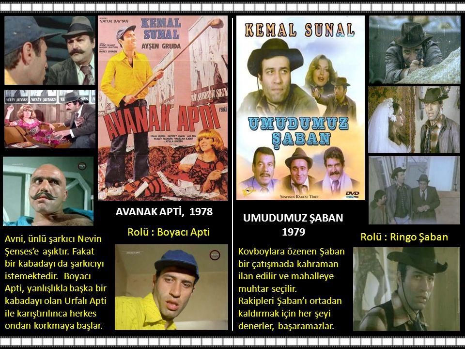 AVANAK APTİ, 1978 Avni, ünlü şarkıcı Nevin Şenses'e aşıktır.