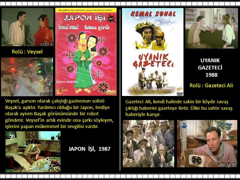 JAPON İŞİ, 1987 Rolü : Veysel Veysel, garson olarak çalıştığı gazinonun solisti Başak'a aşıktır.