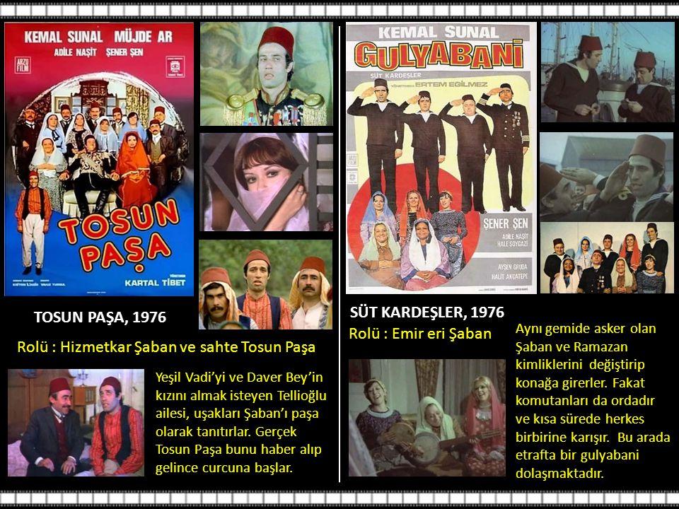 SAHTE KABADAYI 1976 Yeraltı dünyasının babası öldürülünce ortakları pişmaniye satan oğlunu getirip piyasaya sahte bir kabadayı salarlar.