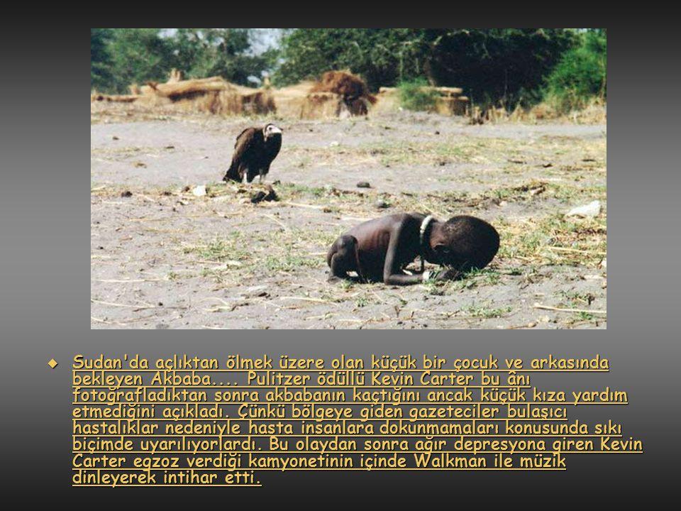  Yıl 1980, Uganda da açlıktan ölmek üzere olan bir çocuk ve bir misyoner.