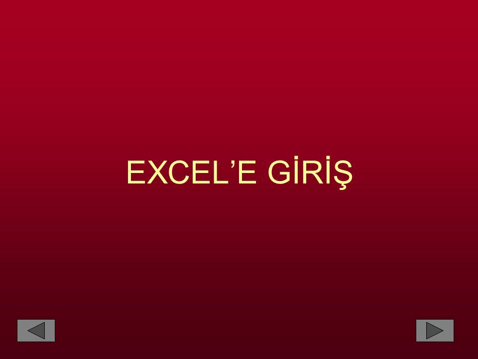 Excel'de hücrelere rahatlıkla isim verilebilir.Örneğin; a39 adresi fazla bir anlam ifade etmez.