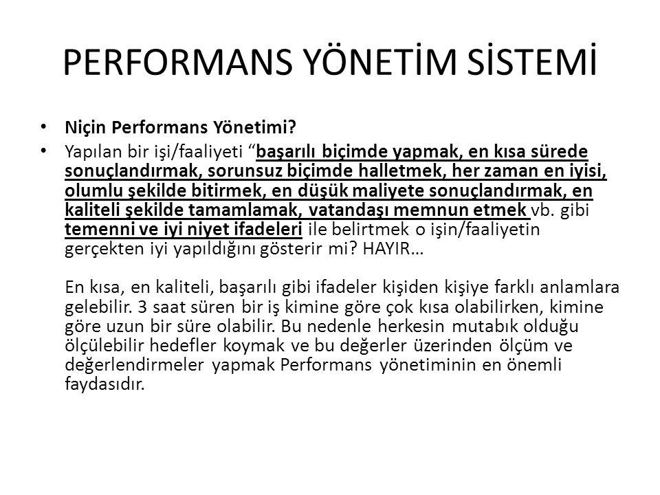 """• Niçin Performans Yönetimi? • Yapılan bir işi/faaliyeti """"başarılı biçimde yapmak, en kısa sürede sonuçlandırmak, sorunsuz biçimde halletmek, her zama"""