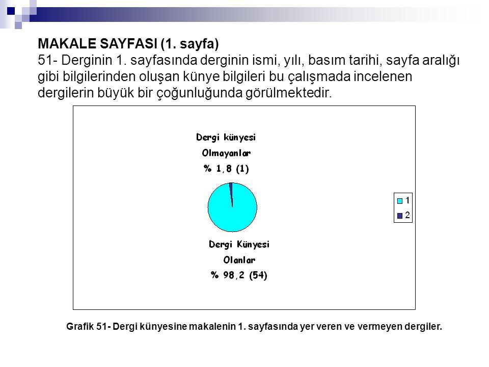 MAKALE SAYFASI (1.sayfa) 51- Derginin 1.