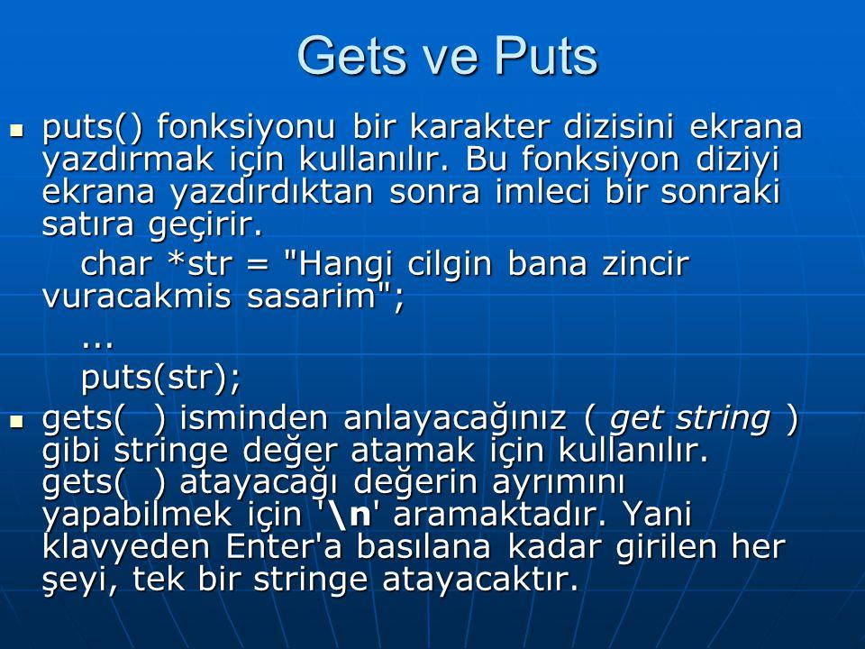  #include  #include  int main(int argc, char *argv[])  {  int i;  int yaz; /* 1/0 -> karakteri yaz/yazma */  char *s;  clrscr();  gets(s);  yaz = 1;  for (i = 0; i<strlen(s); i++)  if (s[i] == )  yaz = 1;  else  if (yaz) {  printf( %c , s[i]);  yaz = 0;  system( PAUSE );  return 0;  }