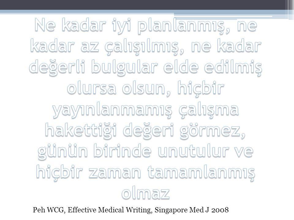 Literatürleri gruplandırın •Giriş •Metod •Tartışma Kliewer MA.